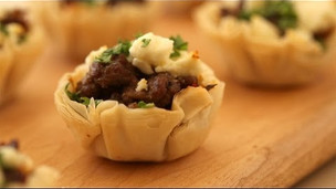 Thumbnail image for Lamb Tomato Phyllo Bites - African Feast Part 1