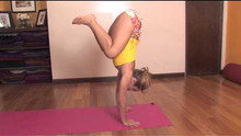 Float Forward from Downward Dog to Handstand