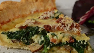 Thumbnail image for Spinach & Bacon Quiche