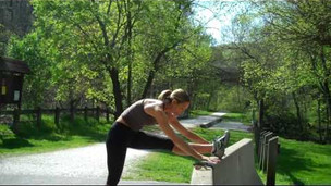 Thumbnail image for Hip & Hammies Stretch at a Wall