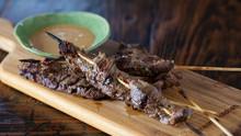 Beef Satay with Habanero Peanut Sauce
