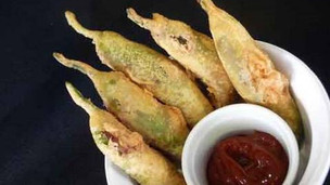 Thumbnail image for Mirchi Bhajji - Stuffed Green Chili Fritters