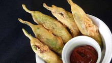 Mirchi Bhajji - Stuffed Green Chili Fritters