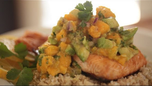 Thumbnail image for Broiled Salmon With Papaya & Avocado Salsa
