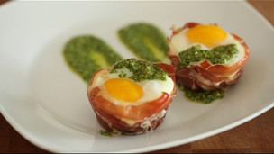 Thumbnail image for Beautiful Baked Egg Cups in Prosciutto
