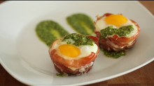 Beautiful Baked Egg Cups in Prosciutto