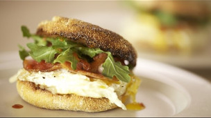 Breakfast Sandwich With Havarti Cheese Argula