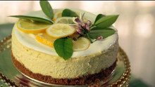 Cheesecake Topped With Lemon
