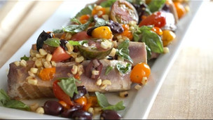 Thumbnail image for Seared Ahi Tuna With Warm Veggie Salad