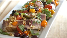 Seared Ahi Tuna With Warm Veggie Salad