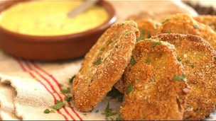 Fried Green Tomatoes With Garlic Aioli