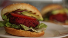 Skillet Veggie Burger Recipe