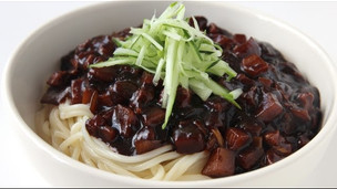 Thumbnail image for Crispy Pork With Sweet Black Bean Sauce And Noodles