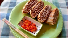 Chinese Fried Beef Pancakes