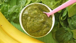 Thumbnail image for Banana Spinach Puree For Babies