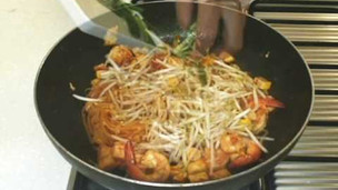 Thumbnail image for Pad Thai Fried Noodles In Egg Wrap From Lobo