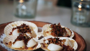 Baked Scallops with Spanish Ham