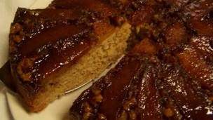 Apple Walnut Upside Down Cake