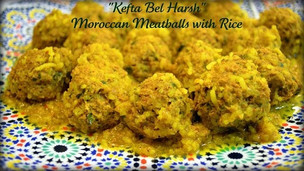 Kefta Bel Harsh - Moroccan Meatballs with Rice