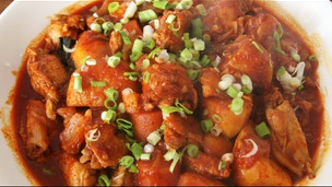 Korean Spicy Braised Chicken (dakbokkeumtang)