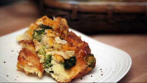 Broccoli & Cheese Bread Pudding Casserole