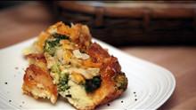Broccoli & Cheese Bread Pudding Casserole