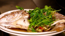 Whole Steamed Snapper