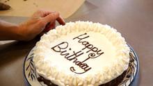 """Happy Birthday"" on Cake"