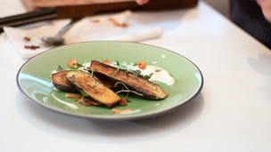 Smokey Baby Aubergine with Yogurt Dressing