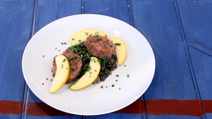 Thumbnail image for Cotechino Sausage and Braised Lentils