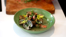Fresh Clams with Pancetta
