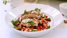Pan-Fried Veal & Peppers