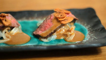 Beef Tataki & Sesame Sauce