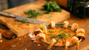 Thumbnail image for Prawns with Romesco sauce