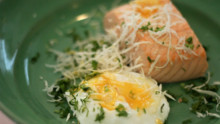 Horseradish Poached Eggs and Salmon