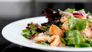 Orange-Infused Salmon and Prawn Salad