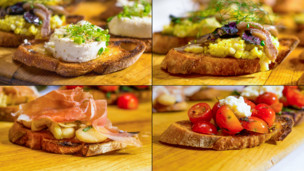 Crostini Topped 4 Ways