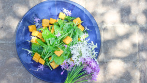 Thumbnail image for Polenta Crouton and Arugula Salad