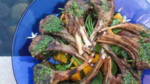 Thumbnail image for Grilled Lamb Chops in Persillade