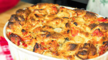 Heirloom Tomato Bread Pudding