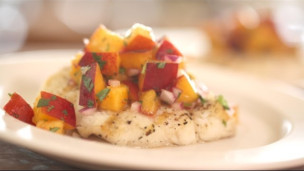 Thumbnail image for Grilled Halibut With Nectarine Salsa