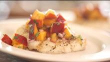 Grilled Halibut With Nectarine Salsa