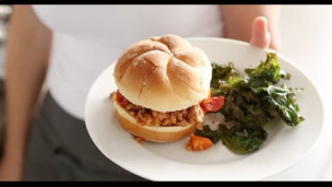 Thumbnail image for Turkey Sloppy Joes with Kale Chips