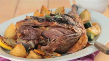 Greek leg of lamb