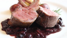 Rack of Lamb with Blueberry Beurre Rouge