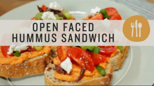Thumbnail image for Open Faced Hummus Sandwich