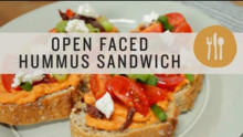 Open Faced Hummus Sandwich