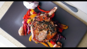 Thumbnail image for Pork Chops with Sweet and Sour Peppers