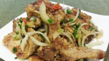 Pan-Fried Pork Chop With Spicy Salt