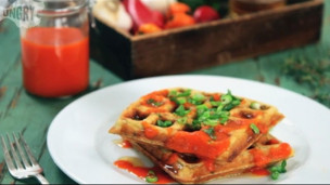 Thumbnail image for Homemade Sriracha with Savory Waffles